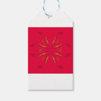 Mandala ethno  red gift tags