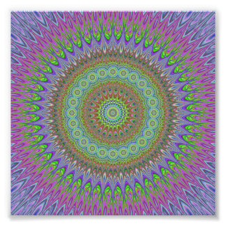 Mandala explosion photo print