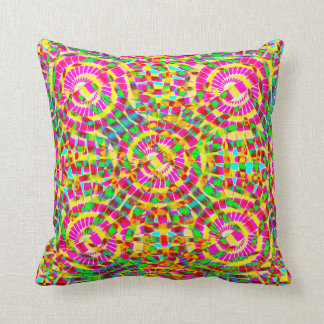 Mandala Fiesta Throw Pillow