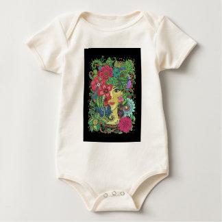 Mandala Figure Nature Girl Pictured Image Baby Bodysuit