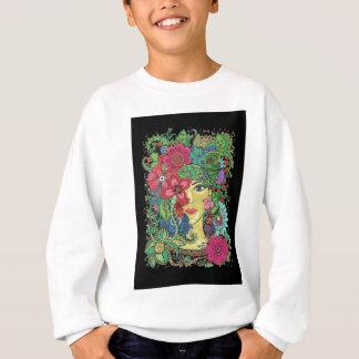 Mandala Figure Nature Girl Pictured Image Sweatshirt