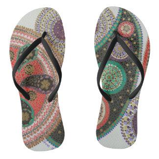 #mandala flip flops