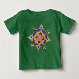 Mandala Floral Pattern Baby Fine Jersey T-Shirt