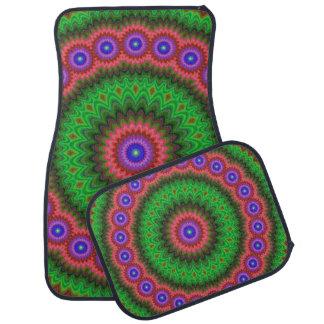 Mandala flower bouquet car mat