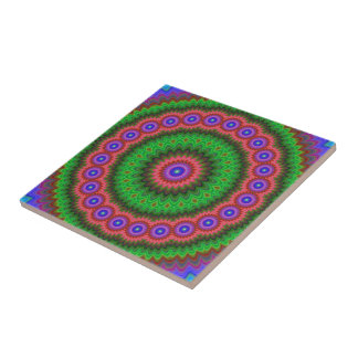 Mandala flower bouquet tile