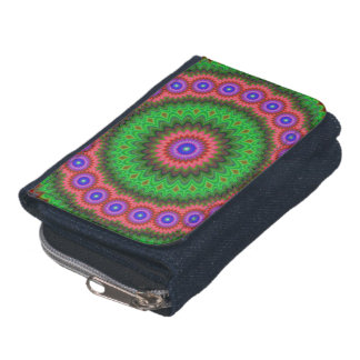 Mandala flower bouquet wallet