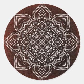 Mandala Flower Classic Round Sticker