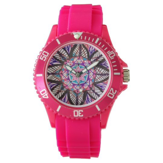 Mandala Flower Clock face Watches