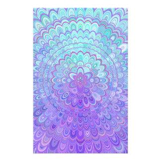 Mandala Flower in Light Blue and Purple Flyer