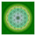 Mandala flower of life no. 3 designed by Tutti Poster