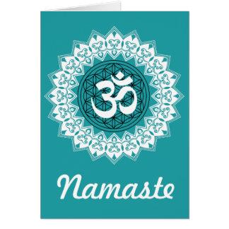 Mandala Flower of Life OM Greeting Card