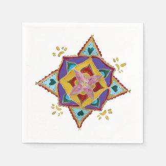 Mandala Flower Paper Napkins