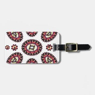 Mandala Flower Pattern Bag Tag