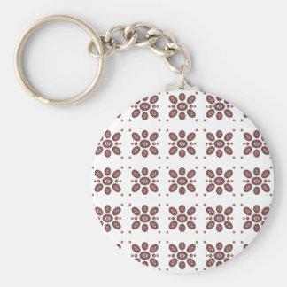 Mandala Flower Pattern Basic Round Button Keychain