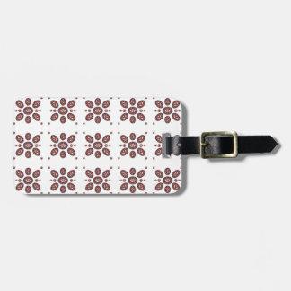 Mandala Flower Pattern Luggage Tag