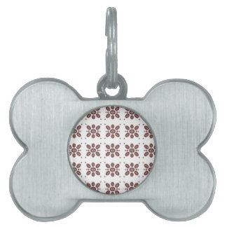 Mandala Flower Pattern Pet Name Tags