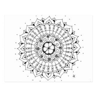 mandala - flower postcard