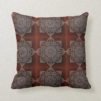 Mandala Flower Throw Pillow