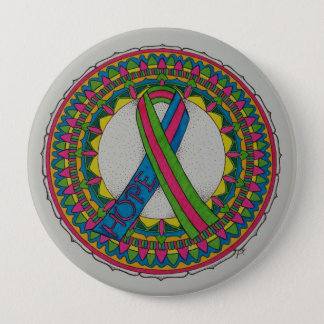 Mandala for Metastatic Breast Cancer 4 Inch Round Button
