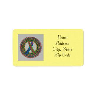 Mandala for Metastatic Breast Cancer Awareness Label