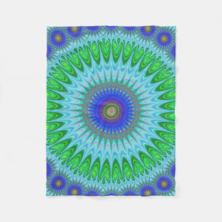 Mandala fractal fleece blanket