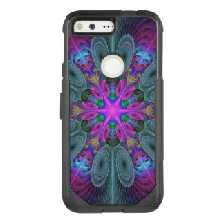 Mandala From Center Colorful Fractal Art With Pink OtterBox Commuter Google Pixel Case