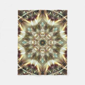 Mandala from the Heart of Change 10 Fleece Blanket
