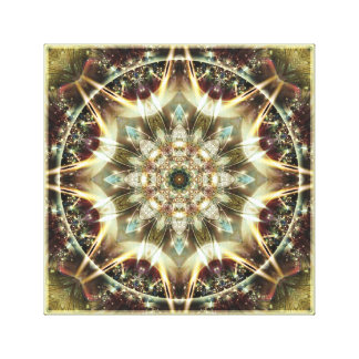 Mandala from the Heart of Change 10 Wrapped Canvas