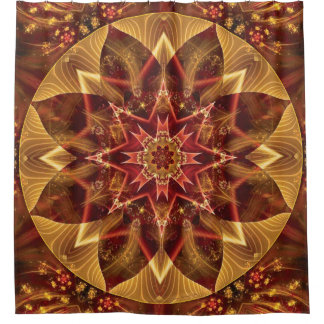 Mandala from the Heart of Change 15 Shower Curtain