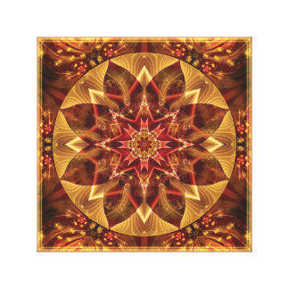 Mandala from the Heart of Change 15 Wrapped Canvas
