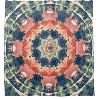 Mandala from the Heart of Change 16 Shower Curtain