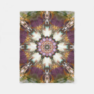Mandala from the Heart of Change 1 Fleece Blanket