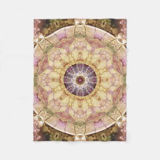 Mandala from the Heart of Change 2 Fleece Blanket