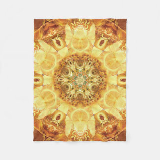 Mandala from the Heart of Change 3 Fleece Blanket