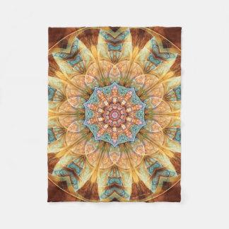 Mandala from the Heart of Change 4 Fleece Blanket
