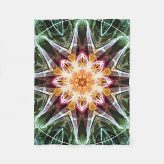 Mandala from the Heart of Change 5 Fleece Blanket