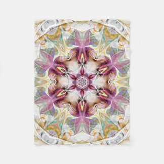 Mandala from the Heart of Change 7 Fleece Blanket