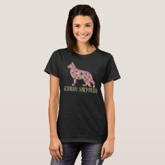 Mandala German Shepherd GSD T-Shirt