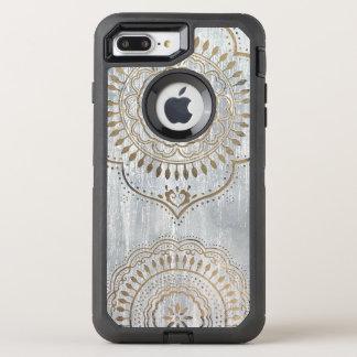 Mandala Gold Design OtterBox Defender iPhone 7 Plus Case