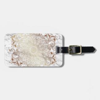 Mandala - Gold & Marble Bag Tag