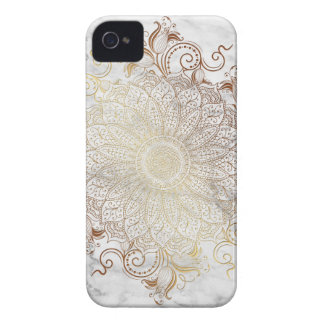 Mandala - Gold & Marble Case-Mate iPhone 4 Cases