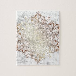 Mandala - Gold & Marble Jigsaw Puzzle
