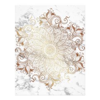 Mandala - Gold & Marble Letterhead