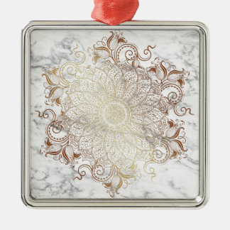Mandala - Gold & Marble Metal Ornament