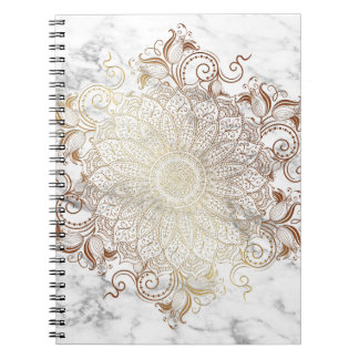 Mandala - Gold & Marble Notebook