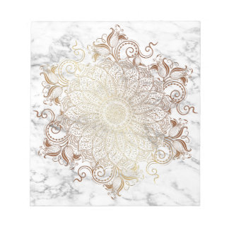 Mandala - Gold & Marble Notepad