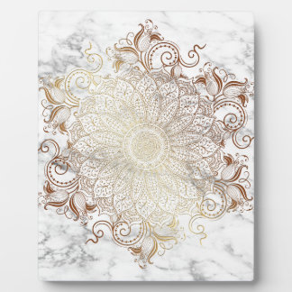Mandala - Gold & Marble Plaque