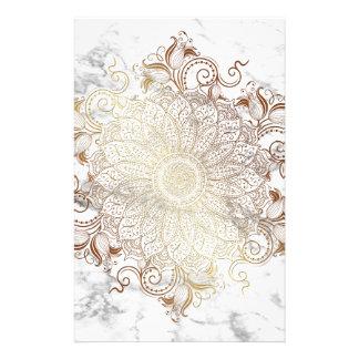 Mandala - Gold & Marble Stationery