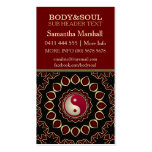 Mandala Gold Red YinYang New Age Business Cards Business Cards