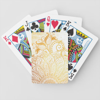 Mandala - Golden brush Bicycle Playing Cards